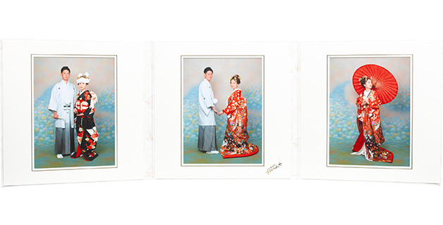 六切り写真3面/3ポーズ